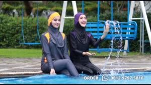 jual baju renang muslim warna hitam